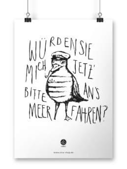 Poster Möwe und Meer